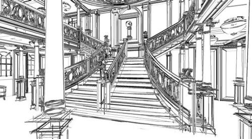 penguin-titanic-staircase