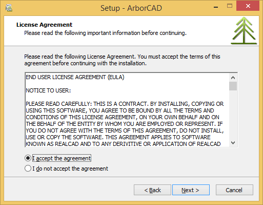 ArborCAD End User License Agreement